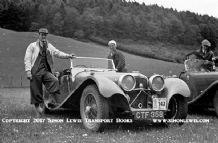 Jaguar SS100 143 (CTF 358) Harry Bolton Scottish Rally 1938